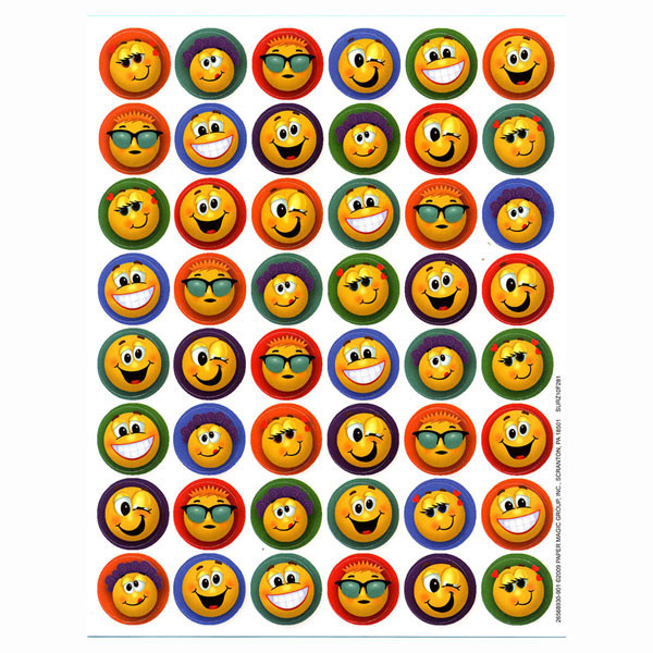 Crazy Smilies - 48 stickers