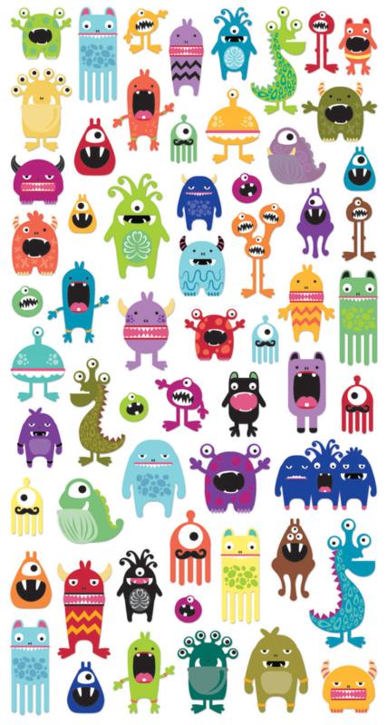 Monster Manie 2 - 60 stickers