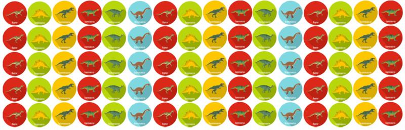 Beloningssysteem Dino's met stickers - Complete Set