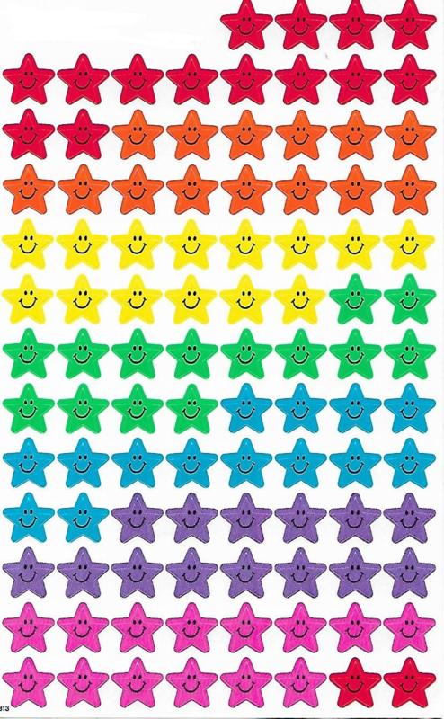 Sterren Smileys - 100 Stickers