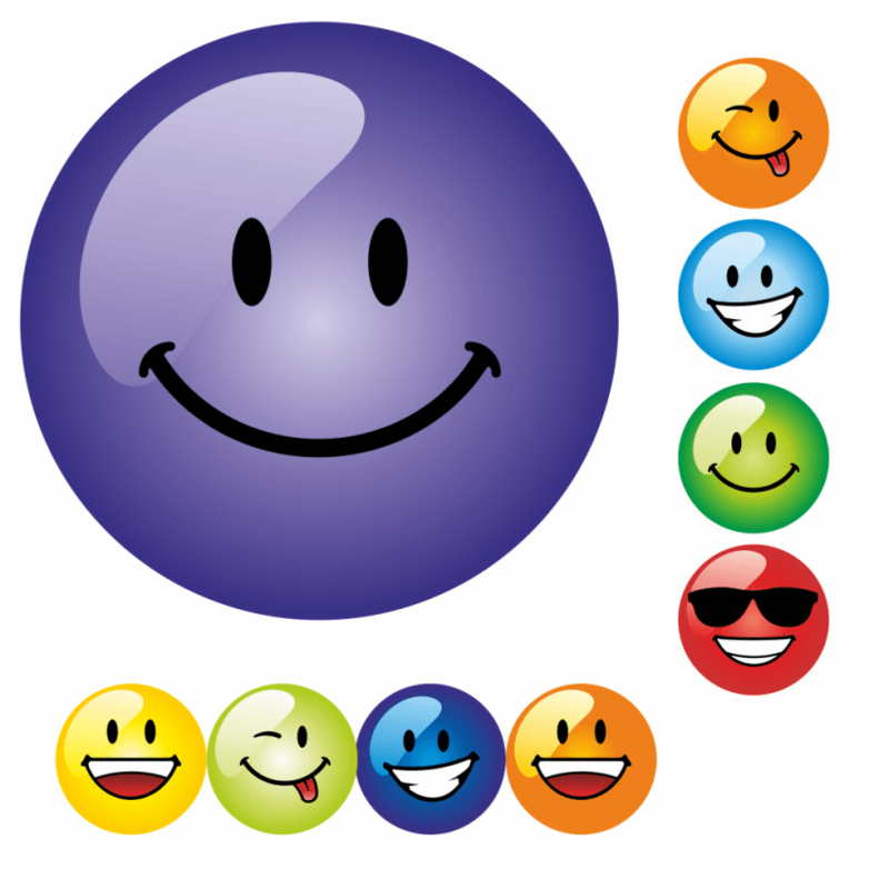 Beloningsstickers Malle Smileys Groot 19mm- 54 Stickers