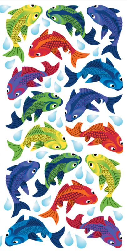 Glittervisjes - 44 stickers