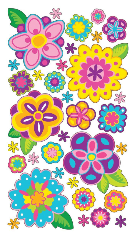 Lente vol glitters - 34 stickers