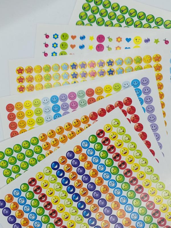 Beloningsstickers Combi Set 10mm- 2208 Stickers Mega Set