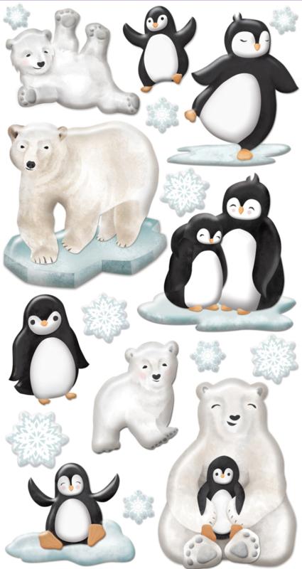 Pinguins en IJsberen 3D - 18 Stickers