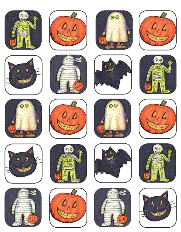 Halloween Eten Kinderen.Halloween Stickers Allemaalstickersenzo