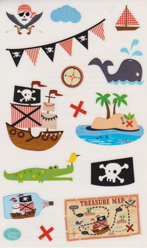 Schip Ahoy - 14 Stickers
