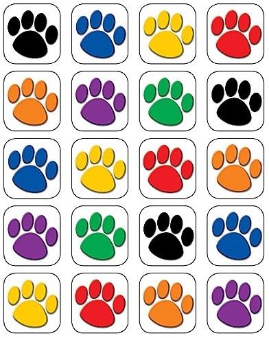 Pootafdrukken- 20 Stickers