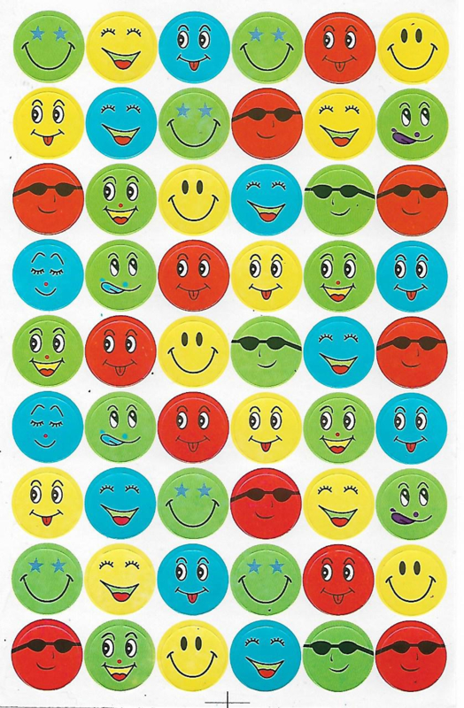 Toffe Smileys IV - 54 stickers