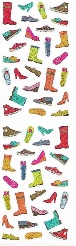 Glimmende Schoenen - 50 Stickers