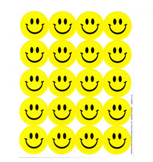Gele Smilies Geur (citroen) - 20 stickers