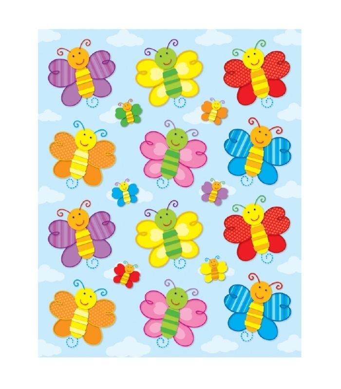 Vlinder Vorm Stickers - 12st