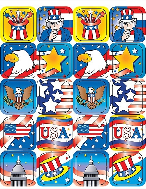 Amerika II - 20 Stickers