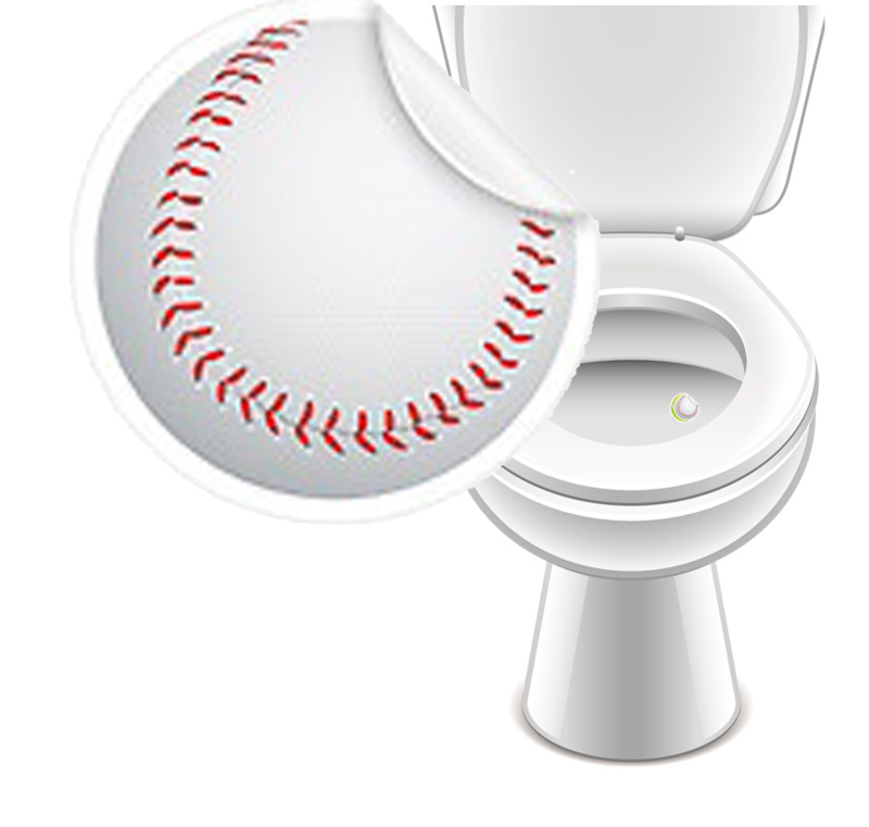 Toilet Stickers Honkbal 20mm - 2 Stickers