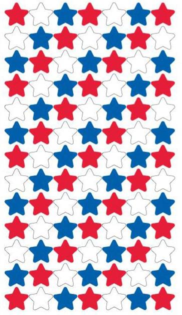 Rood, Wit Blauwe sterren - 91 stickers
