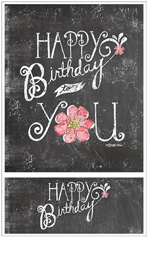 Chalk Talk - Happy Birthday - 2 Stickers