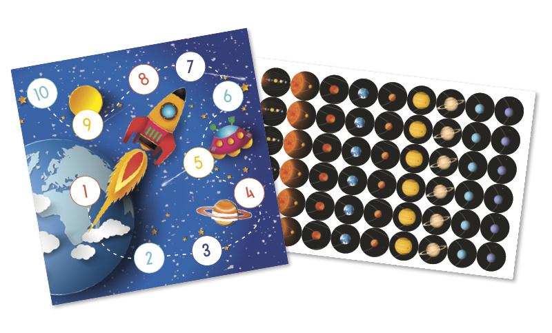 Beloningskaarten met grote stickers - Op weg naar Mars - Topkwaliteit