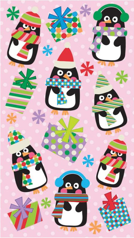 Polka dot pinguins - 22 stickers