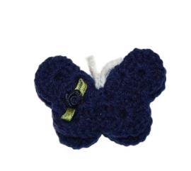 Broche | vlinder blauw