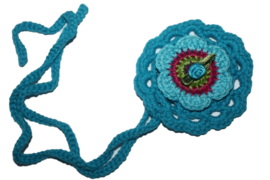 Gehaakte ronde haarband | Blauw