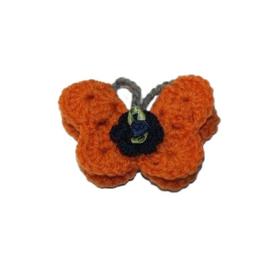 Broche | vlinder oranje