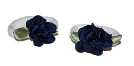 2 elastieken | Bloem Donkerblauw
