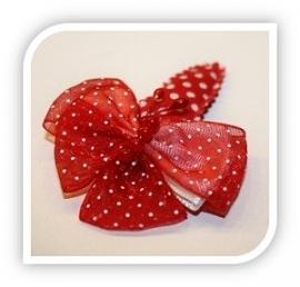 Knipje met vlinder rood