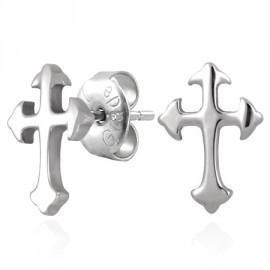 RVS Oorknopjes voor mannen - Kruis