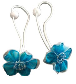 Elastieken | Aqua bloem