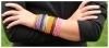 Set van 6 gekleurde armbandjes