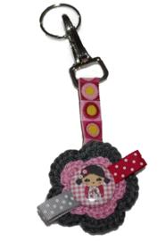 Sleutel of tashanger |Kokeshi roze