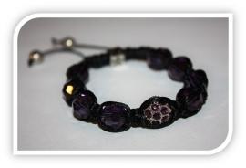 Shamballa dames-armband| Paars
