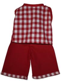 Broek & tuniek voor de pop | Rood