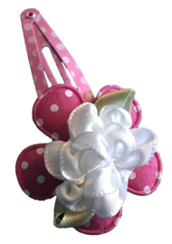 1 knipje | Bloem roze, wit