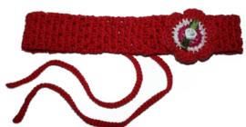Gehaakte haarband | Rood