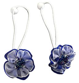 Elastieken | Blauwe bloem