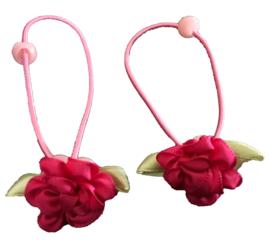 Elastieken | Roze bloem