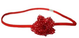 Haarband | rood polkadot