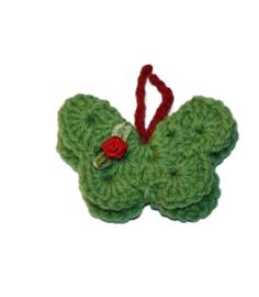 Broche | vlinder groen