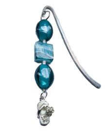 Boekhanger| blauw met strass slipper
