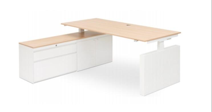 Voortman Elektrisch bureau met draaideurkast en ladekast 160x80