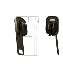 Opti Zipper bronse p/st