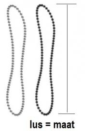 ketting wit 50 tot 250 cm - eindloos
