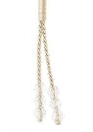 Raffhalter kordel mit Perlen Creme 65 cm