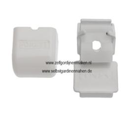 Deckenträger Click-in weiß mit Abdeckkappe