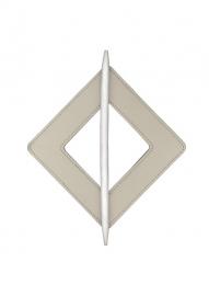 Embrassering vierkant leder WIT 2881-2