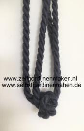 Raffhalter mit Knoten Blaugrau 60cm