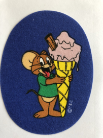 """Aufbügelbar applikation """"Tom und Jerry - Eis"""""""