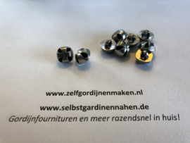 48 metalen knopen nikkel 11mm