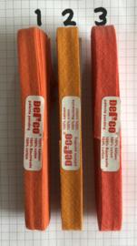 Biaisband oranje 12 mm katoen